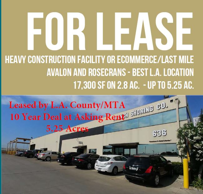 Avalon and Rosecrans Leased